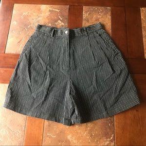 Rafaella high waisted striped shorts